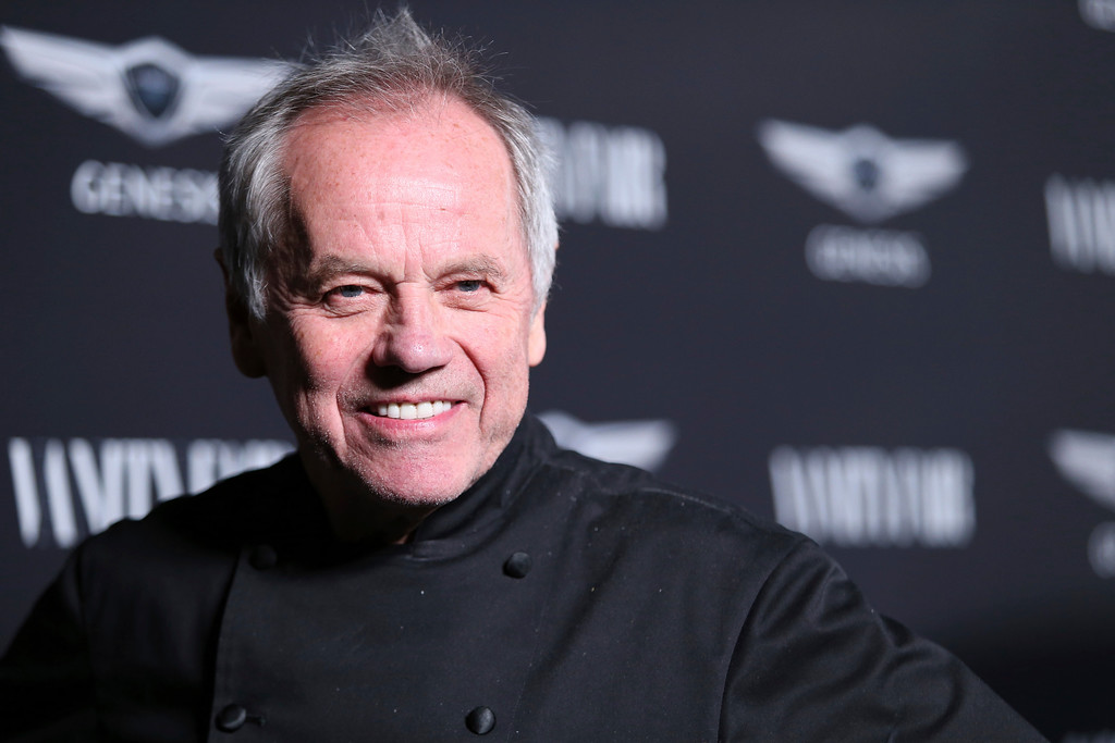 """. Wolfgang Puck arrives at the Toast to the Cast and Filmmakers of \""""Hidden Figures\"""" at Spago restaurant on Friday, Feb. 24, 2017, in Beverly Hills, Calif. (Photo by Omar Vega/Invision/AP)"""