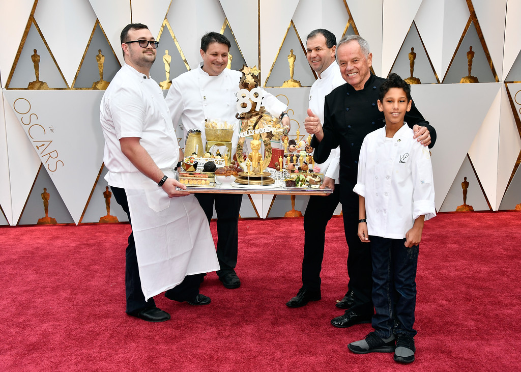 . HOLLYWOOD, CA - FEBRUARY 26:  Chef Wolfgang Puck presents Oscars cuisine before the 89th Annual Academy Awards at Hollywood & Highland Center on February 26, 2017 in Hollywood, California.  (Photo by Frazer Harrison/Getty Images)