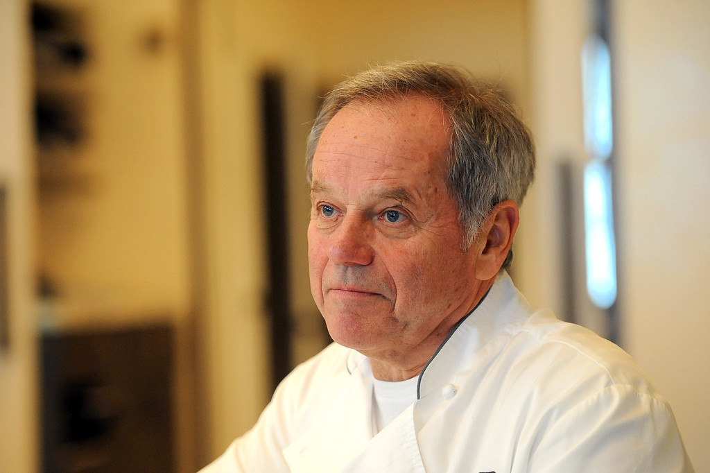 . Wolfgang Puck discusses the Wolfgang Puck Pressure Oven in Beverly Hills, CA February 6, 2014.(Andy Holzman/Los Angeles Daily News)