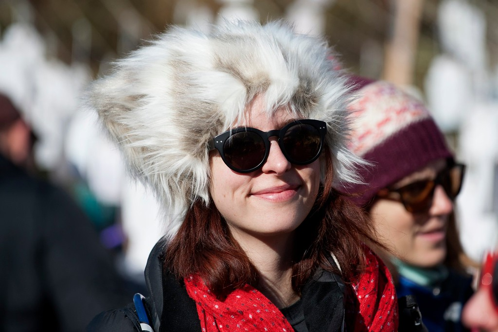 . Demonstrators gather at Civic Center Park in Denver, Colorado, during the Women\'s March on January 21, 2017.  Hundreds of thousands of people packed the streets across the US on Saturday in a massive outpouring of defiant opposition to America\'s new president, Donald Trump. (JASON CONNOLLY/AFP/Getty Images)