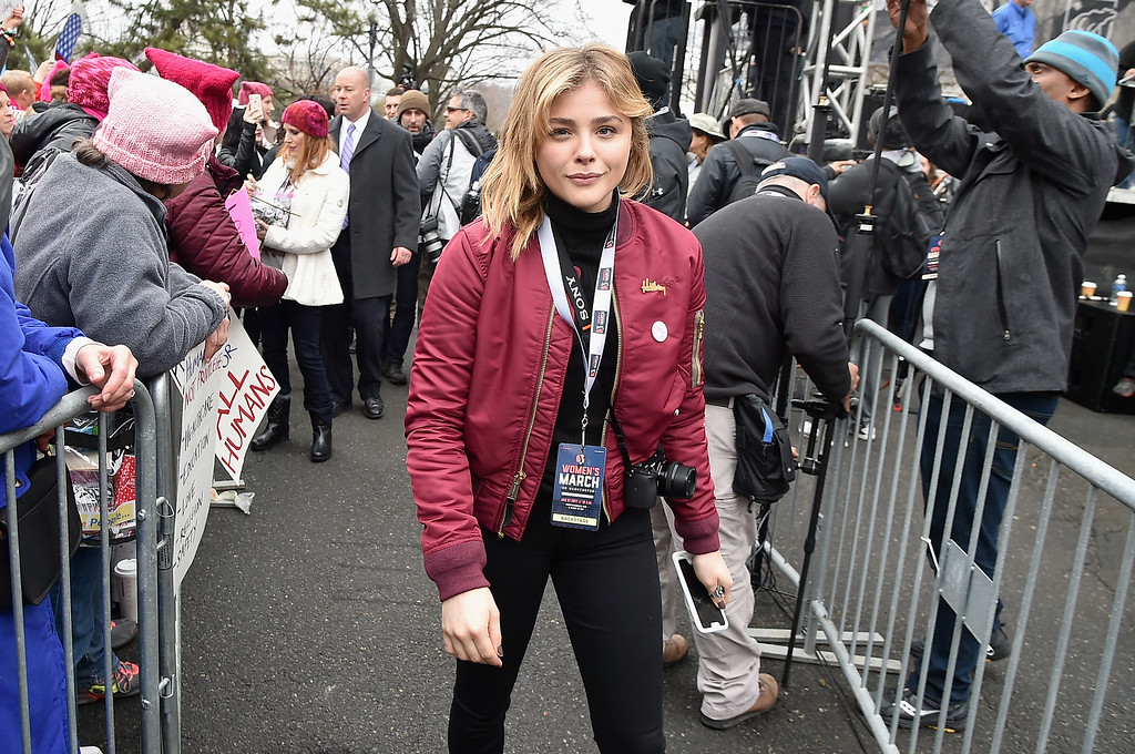 . WASHINGTON, DC - JANUARY 21:  Chloe Grace Moretz attends the Women\'s March on Washington on January 21, 2017 in Washington, DC.  (Photo by Theo Wargo/Getty Images)