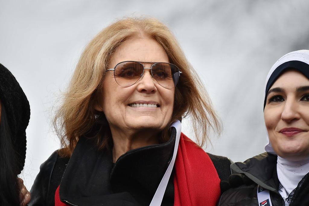 . WASHINGTON, DC - JANUARY 21:  Gloria Steinem attends the Women\'s March on Washington on January 21, 2017 in Washington, DC.  (Photo by Theo Wargo/Getty Images)