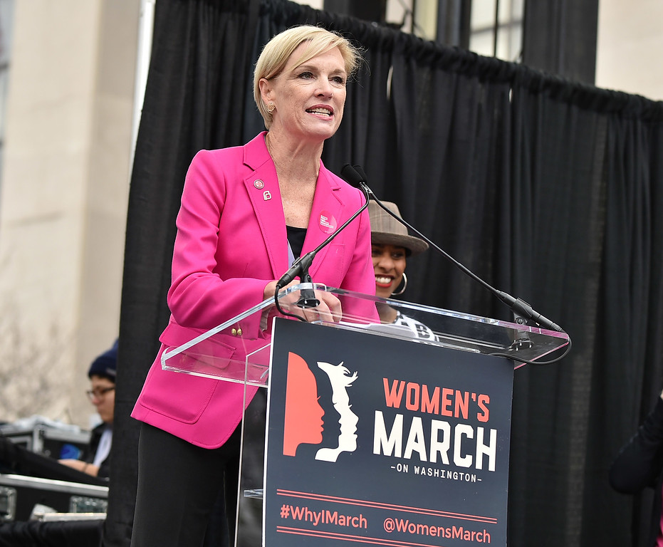 . WASHINGTON, DC - JANUARY 21:  Cecile Richards speaks onstage during the Women\'s March on Washington on January 21, 2017 in Washington, DC.  (Photo by Theo Wargo/Getty Images)