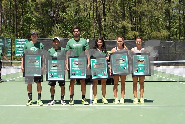 M&W Tennis vs. Tusculum - Senior Day - April 17, 2016