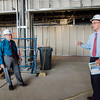Associate Vice President of Facilities Jon Wyman and Dean of Students Jason Zelesky leads a tour of the new student center under construction at Mount Wachusett Community College in Gardner on Wednesday, August 19, 2017. SENTINEL & ENTERPRISE / Ashley Green