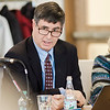 Robert Antonioni speaks during the Mount Wachusett Board of Trustees meeting on Thursday afternoon. The board came to the decision to recommend Dr. James Vander Hooven be named the college's third president to replace the retiring Dr. Daniel Asquino. SENTINEL & ENTERPRISE / Ashley Green