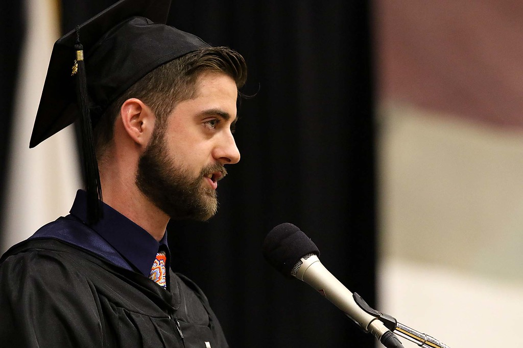 . Mount Wachusett Community College held its fifty-third commencement on Wednesday, May 16, 2018.Giving the student address during the ceremony was graduate Jonathan Marshall. SENTINEL & ENTERPRISE/JOHN LOVE