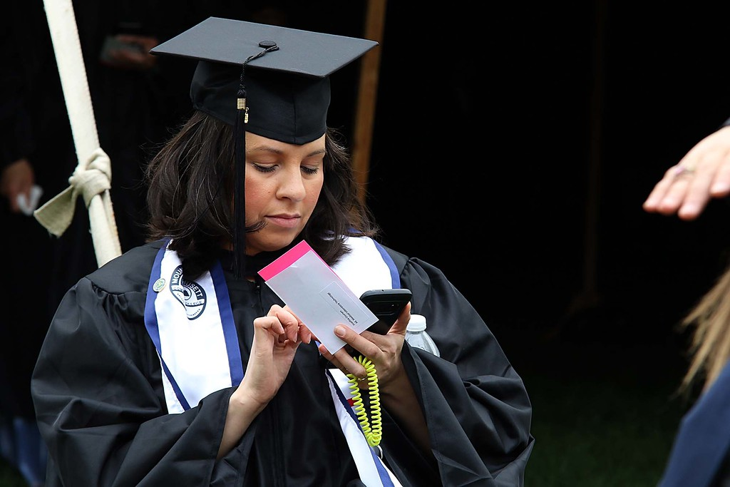 . Mount Wachusett Community College held its fifty-third commencement on Wednesday, May 16, 2018. SENTINEL & ENTERPRISE/JOHN LOVE