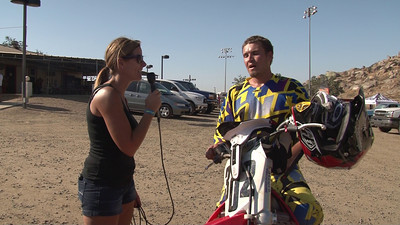 Drake Plageman Moto #1 Winner 450cc Novice Class #3 2011 Hot Summer Nights Perris Raceway