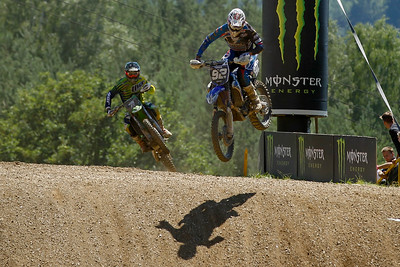 Guillod passes Tixier in the last lap