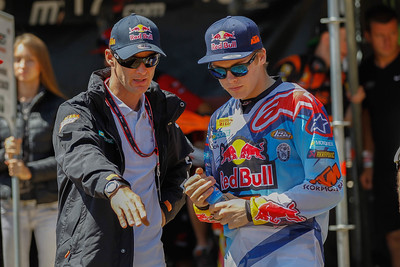 Pauls Jonass with Stefan Everts