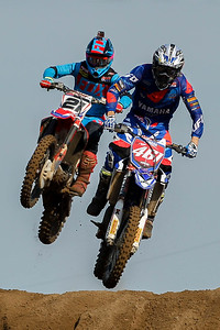 Close racing: Paulin and Febvre