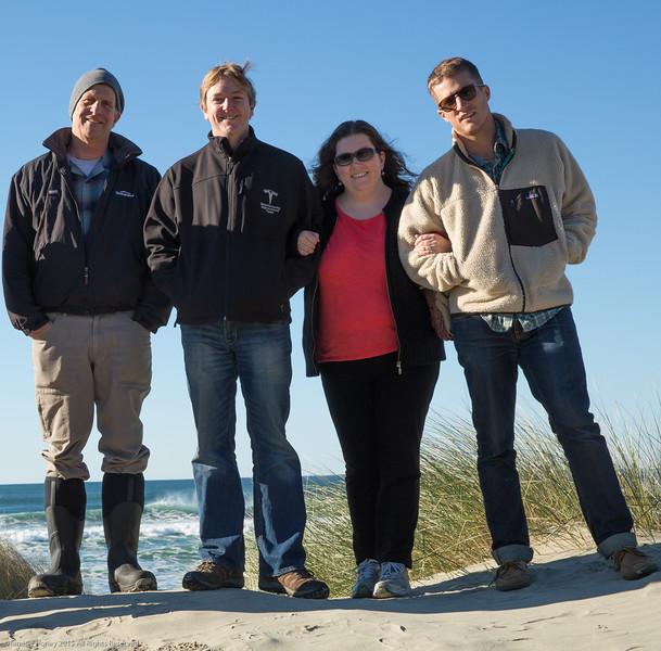 Part of family on dune