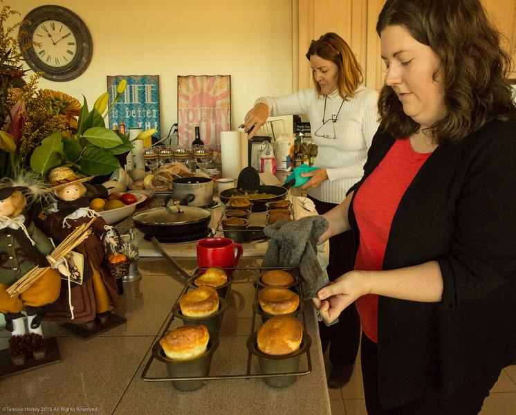 Carol's popover pans in use!
