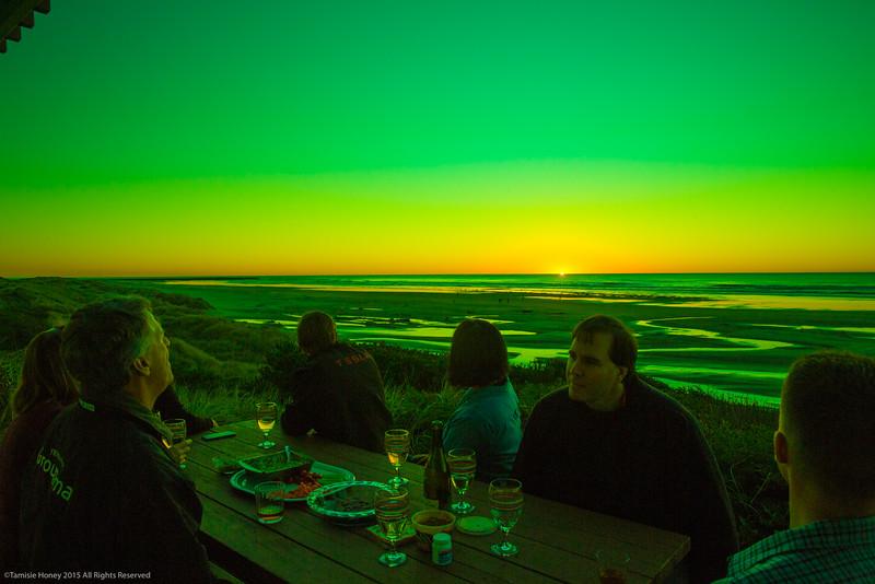 A somewhat enhanced green flash......