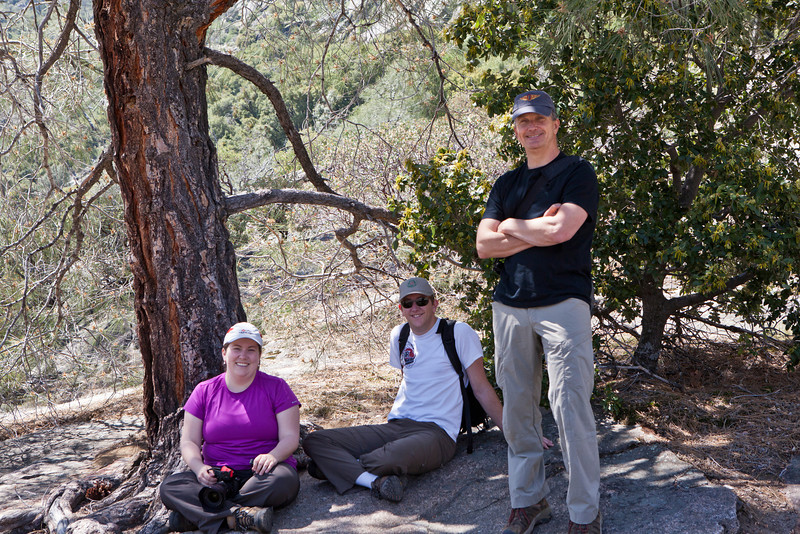 Liz and Will and Jeff Davis<br /> Hetch Hetchy Hike