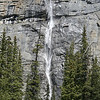 ONE OF THE WATERFALLS OF THE WEEPING WALL IN BANFF NATIONAL PARK
