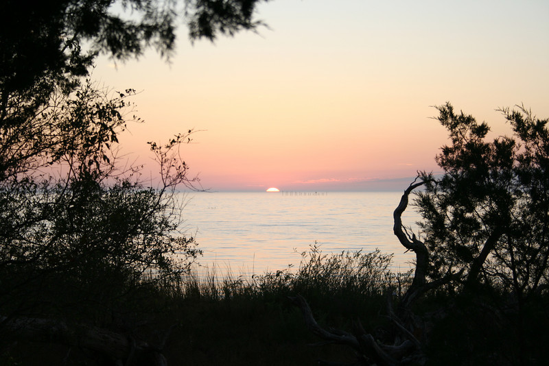 SUNSET ON THE GULF OF MEXICO, CEDAR KEY ,FLORIDA