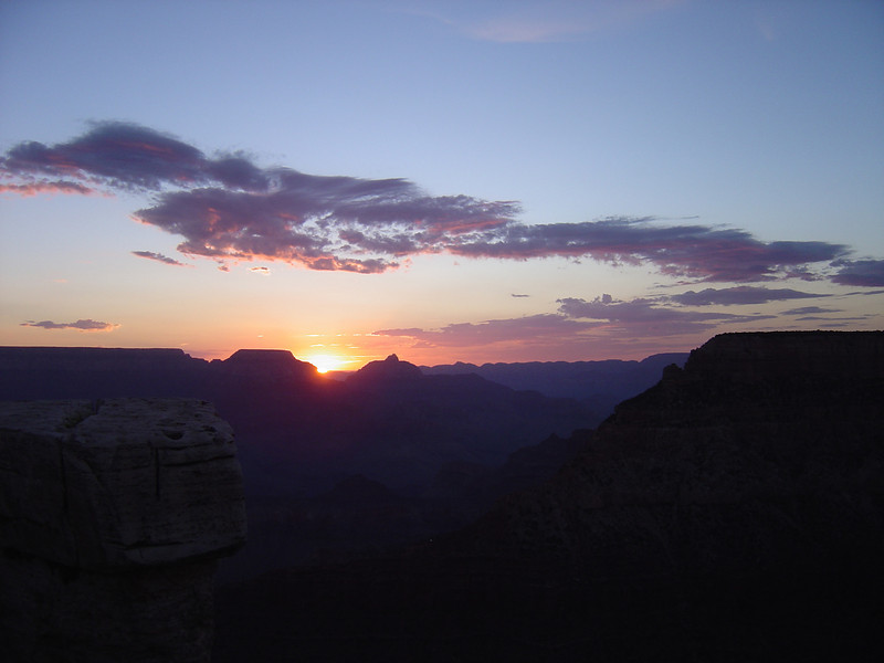 SUNRISE ON THE GRAND CANYON.