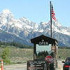THE SOUTH ENTRANCE AT GRAND TETON. NO WAITING FOR A VIEW.