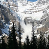 AN AVALANCHE AT CROWFOOT GLACIER IN BANFF NP