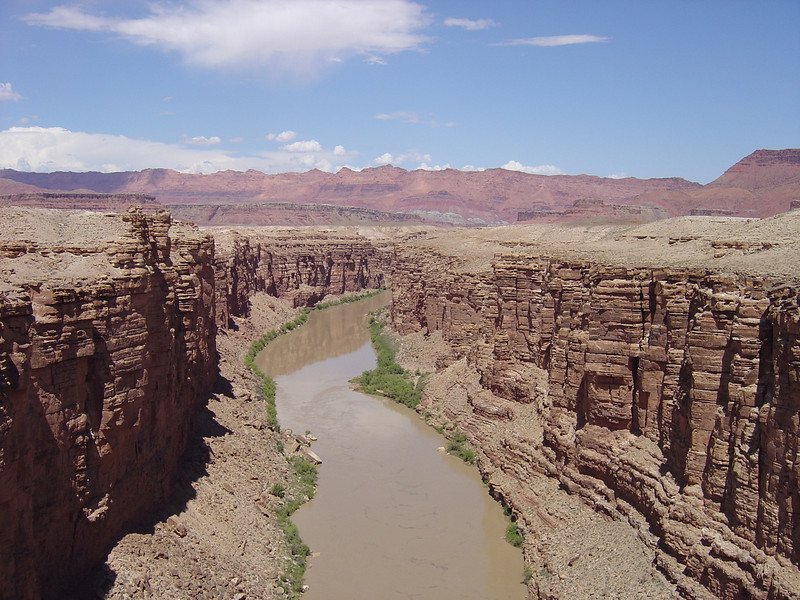 THE COLORADO RIVER AS IT HEADS INTO THE GRAND CANYON.