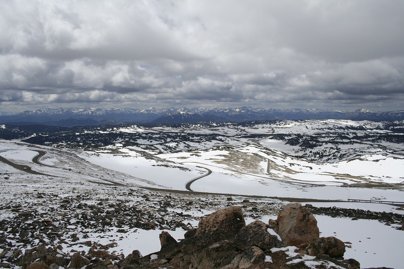 THE BEARTOOTH HIGHWAY, MEMORIAL DAY 2007. <br /> THE FIRST DAY OPEN OF THE YEAR.