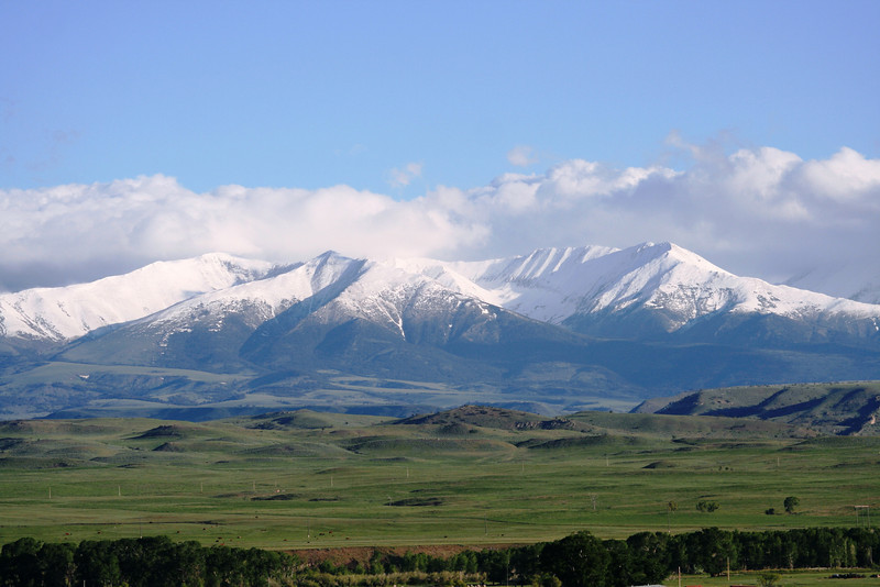 THE CRAZY MOUNTAINS IN MONTANA.