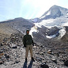 AT THE GLACIER LINE ON MOUNT HOOD