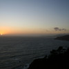 SUNSET ON MUIR BEACH CALIFORNIA