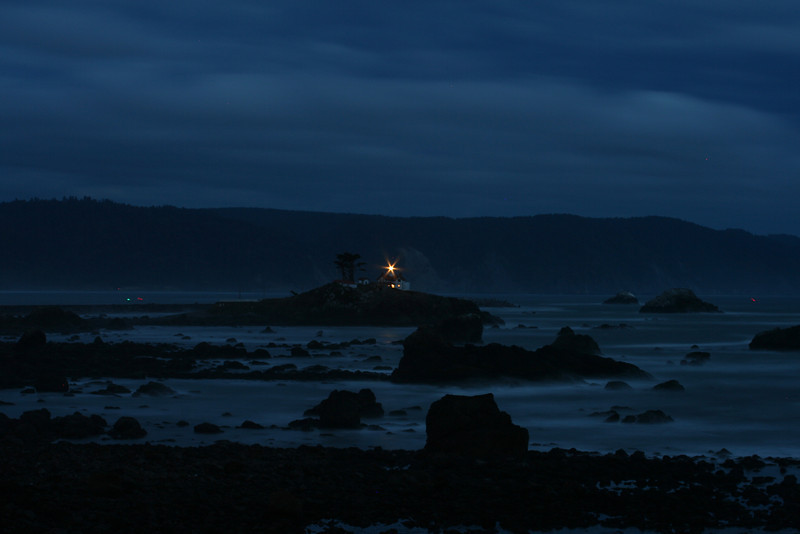 BATTTERY POINT LIGHTHOUSE AT NIGHT