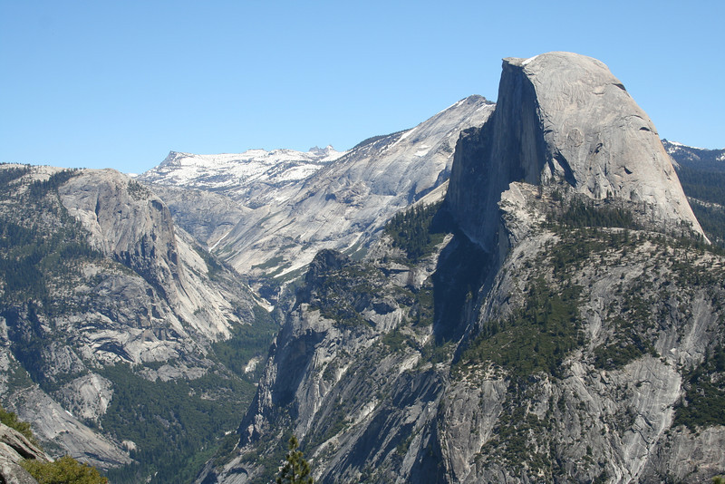 HALFDOME VIEWED FROM GLACIER POINT IN YOSEMITE.