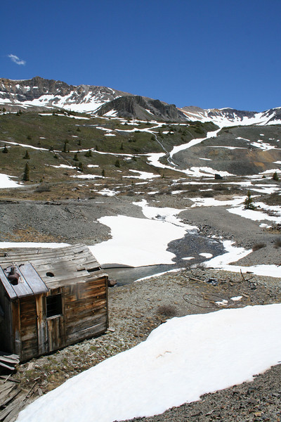 THE OLD TOMBOY MINE ABOVE TELLURIDE, COLORADO.
