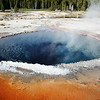 CRESTED POOL IN YELLOWSTONE.