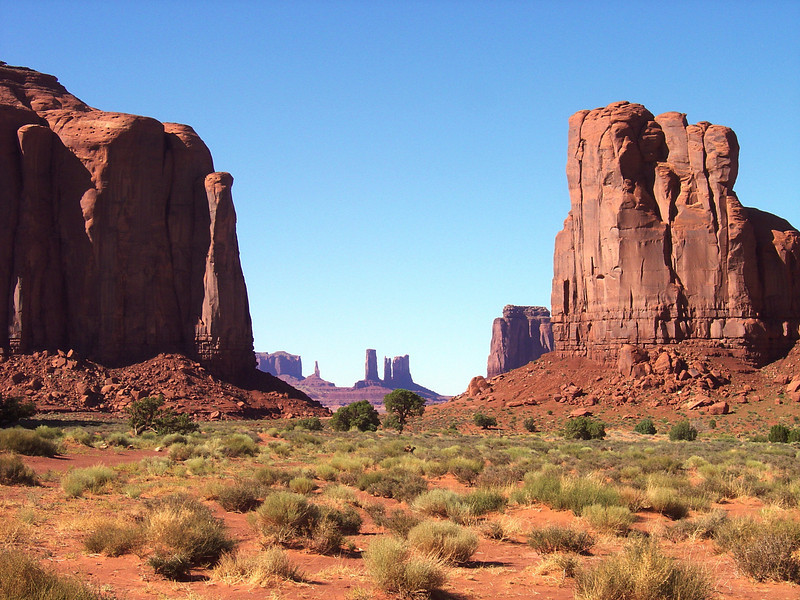 "THE ""WINDOW"" AT MONUMENT VALLEY."