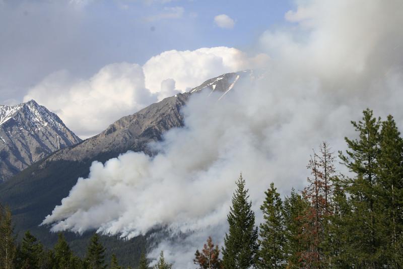FIRE IN KOOTENEY NATIONAL PARK, BRITISH COLUMBIA