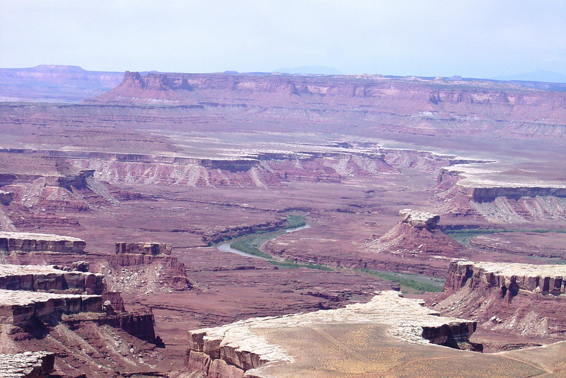 THE COLORADO RIVER RUNS THROUGH GRANDVIEW POINT IN CANYONLANDS NATIONAL PARK.