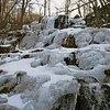 A FROZEN WATERFALL IN SHENANDOAH NATIONAL PARK.