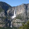 THE UPPER & LOWER YOSEMITE FALLS FROM THE FOUR MILE TRAIL.