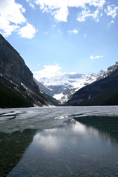 LAKE LOUISE IN BANFF NATIONAL PARK IN JUNE