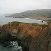 LOOKING SOUTH FROM BONITA POINT AT THE PACIFIC COAST OF MARIN COUNTY, CALIFORNIA.
