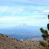 VIEW OF MOUNT ADAMS FROM HIGH UP MOUNT HOOD.