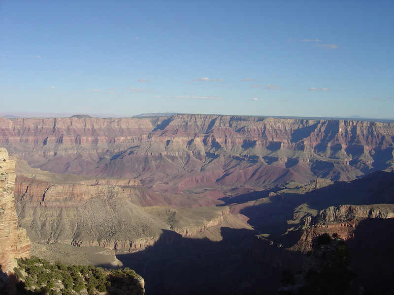 A VIEW FROM THE NORTH RIM OF GRAND CANYON.