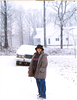 MY DAUGHTER JESIKA AT AT AROUND 18 IN A KENTUCKY SNOWSTORM.