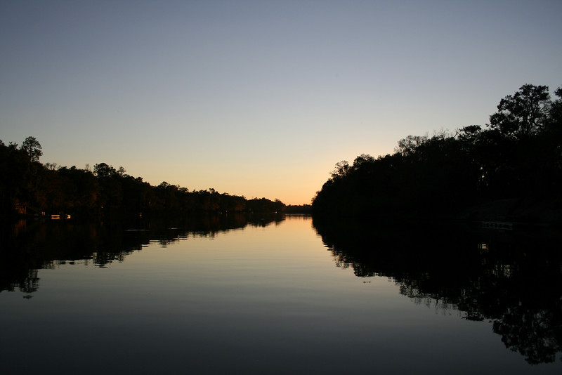 SUNSET ON THE SANTE FE RIVER N FLORIDA