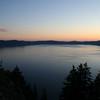 SUNSET ON CRATER LAKE OREGON