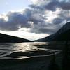 SUNSET ON MEDICINE LAKE IN JASPER NP