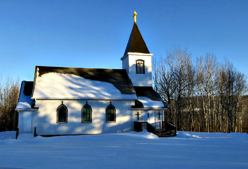 SIDE VIEW OF OLDER CHURCH