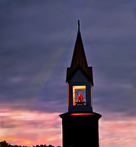 VIKINGS CHURCH STEEPLE WITH BELL