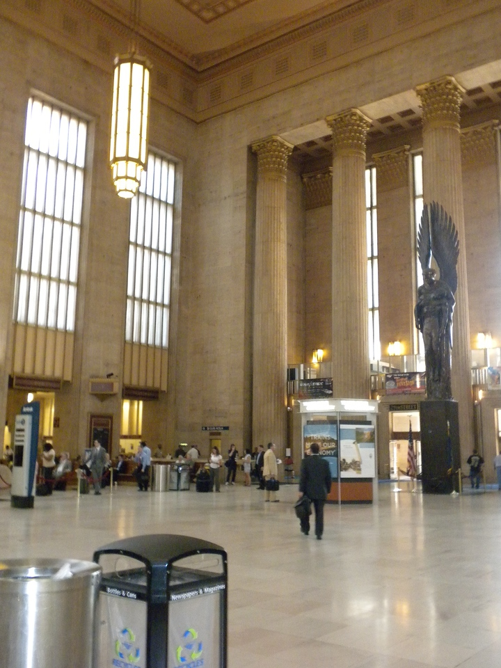 Leaving Philadephia on Amtrak from the 30th Street Station